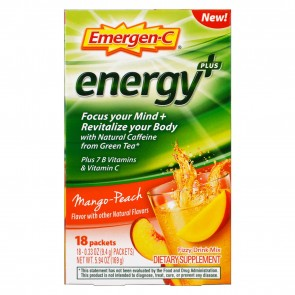 Emergen-C Energy+ Mango-Peach 18 Packets