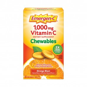 Emergen C 1000mg Vitamin C Orange Blast 40 Chewable Tablets