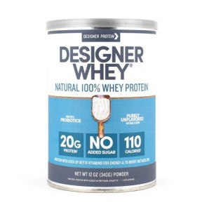 Designer Whey Natural 100% Whey Protein 12 oz