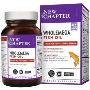 New Chapter Wholemega Whole Fish Oil 180 Softgels