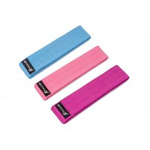 ProsourceFit Fabric Loop Resistance Band Set Blue/Pink/Purple