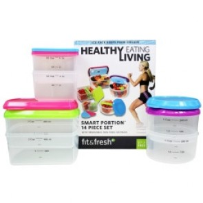 Fit & Fresh Containers Smart Portion 14 Piece Set