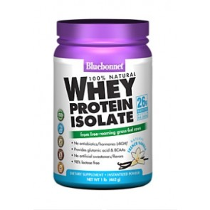 Bluebonnet 100% Natural Whey Protein Isolate Powder French Vanilla 1 lb