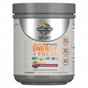 Garden of Life Sport Organic Plant-Based Energy + Focus Sugar Free Blackberry Cherry 8.1oz (231g)