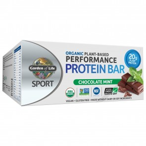 Garden of Life Sport Organic Plant-Based Performance Protein Bar Chocolate Mint (12 Bars)