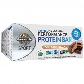 Garden of Life Sport Organic Plant-Based Performance Protein Bar Peanut Butter Chocolate (12 Bars)