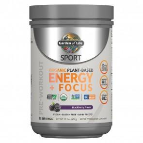 Garden of Life Sport Organic Pre-Workout Energy plus Focus Blackberry 15.3oz (432g)