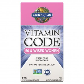 Garden of Life Vitamin Code 50 and Wiser Woman 120 Vegetarian Capsules