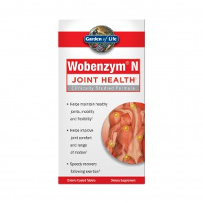 Garden of Life Wobenzym N Healthy Inflammation and Joint Support 200 Enteric-Coated Tablets