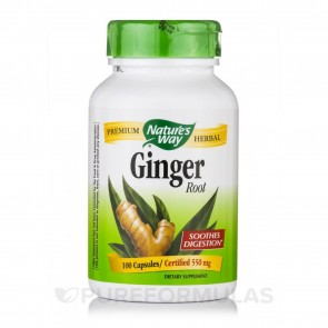 Nature's Way Ginger Root 550 mg 100 Capsules
