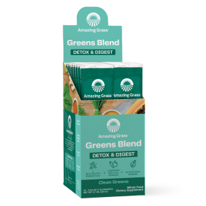 Amazing Grass Green SuperFood Detox and Digest Clean Greens 15 Individual Packets