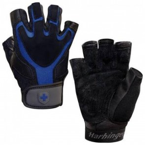 Harbinger 1260 Ventilated Training Grip Lifting Gloves XL Black/Blue