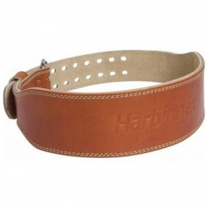 Harbinger 4 Classic Oiled Leather Weightlifting Belt Large