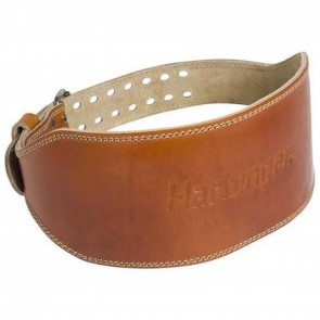 Harbinger 6 Classic Oiled Leather Weightlifting Belt Large