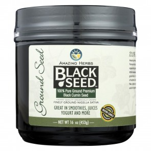 Amazing Herbs Black Seed 100% Pure Ground Premium Black Cumin Seed 16 oz (453 Grams)