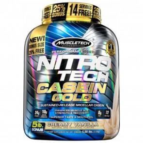 MuscleTech Nitro Tech Casein Gold Creamy Vanilla 5 lbs | Nitro Tech Casein Gold Creamy Vanilla 5 lbs