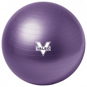 Body Ball 55 cm Purple Burst Resistant Training DVD Included by Valeo