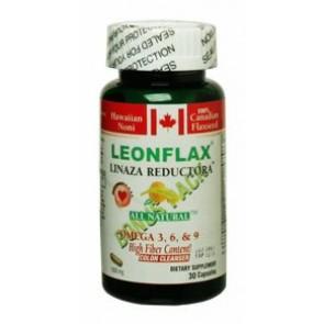 LeonFlax Linaza Reductora- Omega 3,6,9  high Fiber-  30 Capsules