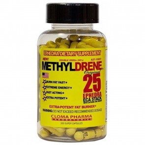 Methyldrene 25 Ephedra ECA Stack 100 Capsules by Cloma Pharma