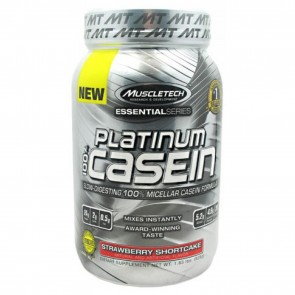 MuscleTech Platinum 100% Casein Strawberry Shortcake 1.83 Lbs
