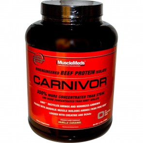 MuscleMeds Carnivor Bioengineered Beef Protein Isolate Vanilla Caramel 4.6 lbs