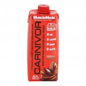 MuscleMeds Carnivor 100% Pure Beef Protein Isolate RTD Shake Chocolate 16.9 oz.