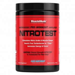 NitroTest Pre Workout Blue Raspberry