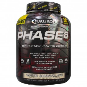 MuscleTech Phase 8 Hour Protein White Chocolate 4.4lbs