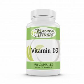 Natural Living Vitamin D3 90 Capsules