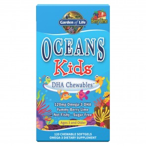 Garden of Life Oceans Kids DHA Chewables Berry Lime 120 Softgels