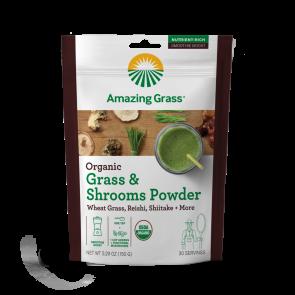 Amazing Grass Organic Grass & Shrooms Powder