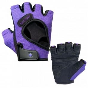 Harbinger Womens FlexFit Gloves Black/Purple (Small)
