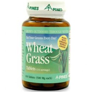 Pines Wheat Grass Tabs 500 mg. 100 Tablets