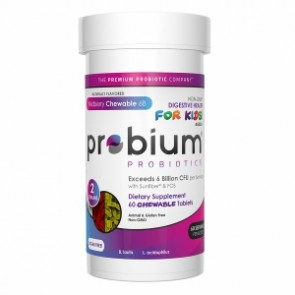 Probium Premium Probiotics - Kids Blend Chewable 6B Wildberry - 60 Chewable Tablets