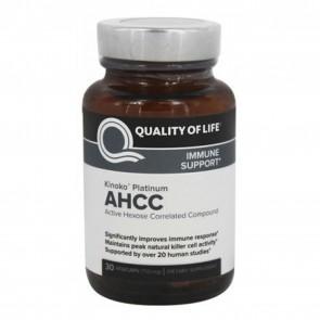 Quality of Life Kinoko Platinum AHCC 30 Vegie Caps