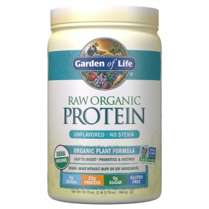 Garden of Life Raw Organic Protein Unflavored No Stevia 1.4 lbs