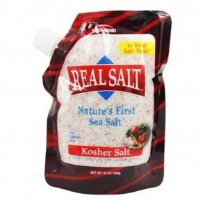 Real Salt Nature's First Sea Salt Kosher Salt 16 oz.