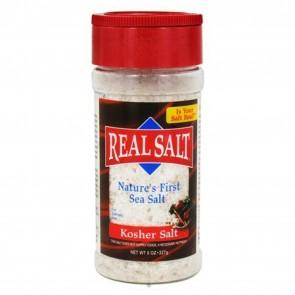 Real Salt Nature's First Sea Salt Shaker Kosher Salt 8 oz.