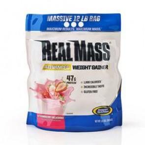 Gaspari Nutrition Real Mass Advanced Weight Gainer Strawberry Milkshake 12lbs