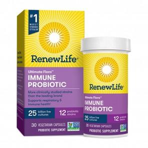 Renew Life Ultimate Flora Immune Probiotic 25 Billion 30 Vegetarian Capsules