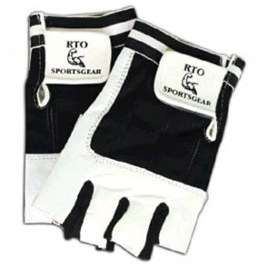 RTO Sportsgear Workout Gloves Black & White (2xl)