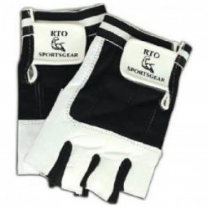 RTO Sportsgear Workout Gloves Black & White (XL)