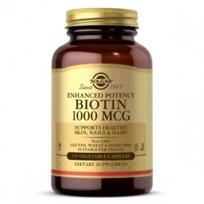 Solgar Biotin Energy Support 1000 MCG 250 Vegetarian Capsules