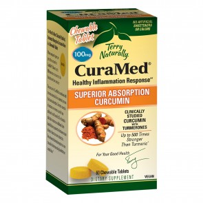 Terry Naturally CuraMed Superior Absorption Curcumin 100mg 60 Chewable Tablets