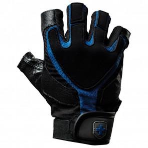 Harbinger Men's Training Grip® Glove Black/Blue (Medium)