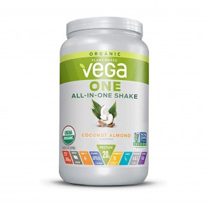 Vega One Plant Based All-In-One Shake Coconut Almond 1.8 lbs 18 Servings