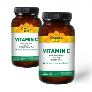 Country Life Vitamin C 500 Rosehips