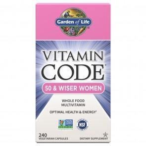 Garden of Life Vitamin Code 50 & Wiser Women 240 Vegetarian Capsules