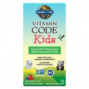 Garden of Life Vitamin Code Kids Cherry Berry 30 Chewable Bears