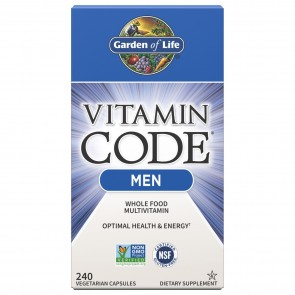Garden of Life Vitamin Code RAW Men's Multi Formula 240 Vegetarian Capsules